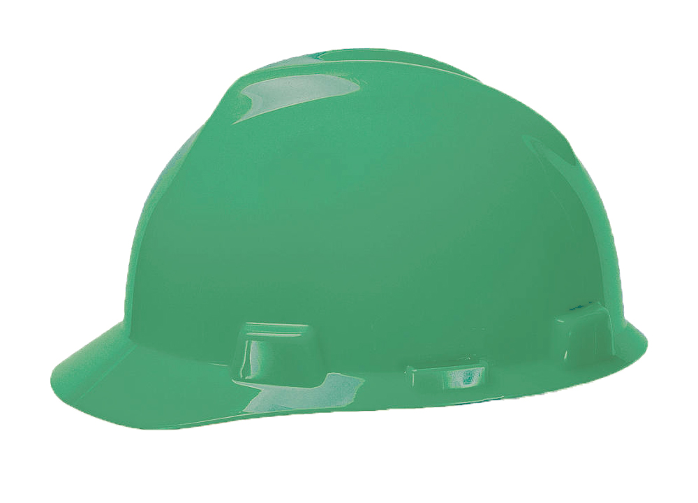 MSA V-Gard® Standard - Green Hard Hat | Customhardhats.com