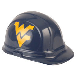 West Virginia Mountaineers Team Hard Hat | Customhardhats.com