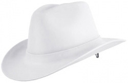 Western Outlaw White Hard Hat | Customhardhats.com