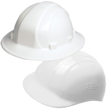 White Hard Hats